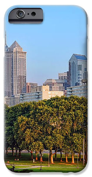 Downtown Philadelphia Skyline iPhone Case by Olivier Le Queinec