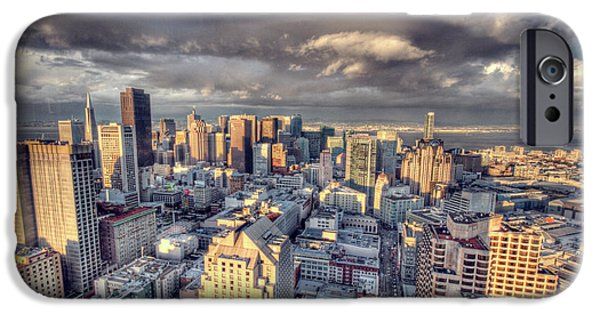 City Scape iPhone Cases - Downtown San Francisco iPhone Case by Ariane Moshayedi