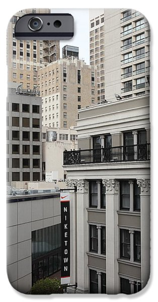 Nike Photographs iPhone Cases - Downtown San Francisco Buildings - 5D19323 iPhone Case by Wingsdomain Art and Photography