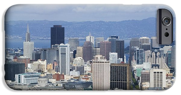 Business iPhone Cases - Downtown San Francisco Skyline iPhone Case by Jeremy Woodhouse