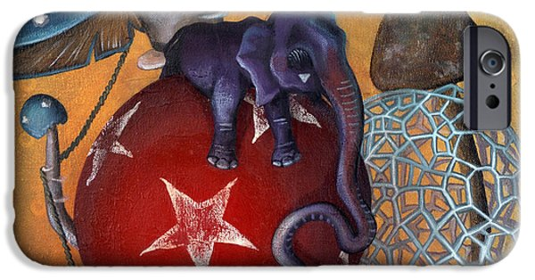 Elephant iPhone Cases - Dows Newest Best Trick iPhone Case by Kelly Jade King