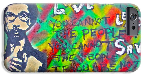 Tea Party iPhone Cases - Dr. Cornel West  LOVE THE PEOPLE iPhone Case by Tony B Conscious