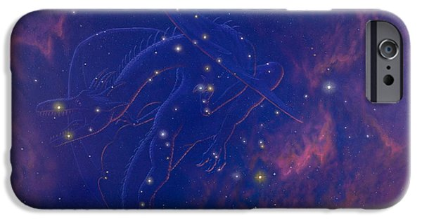 Ursa Minor iPhone Cases - Draco Constellation iPhone Case by Chris Butler
