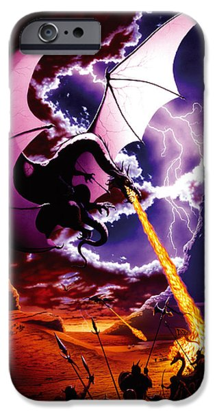 Dragon iPhone Cases - Dragon Attack iPhone Case by The Dragon Chronicles - Steve Re