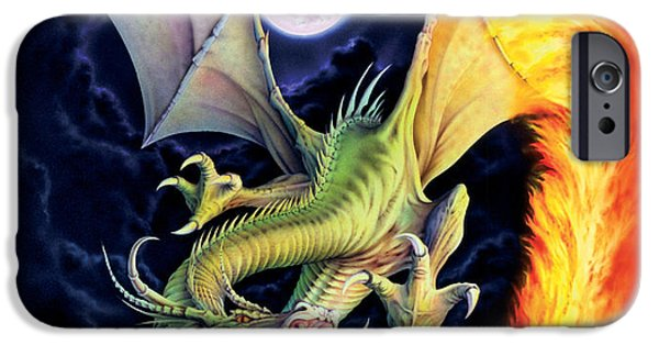 Dragon iPhone Cases - Dragon Fire iPhone Case by The Dragon Chronicles