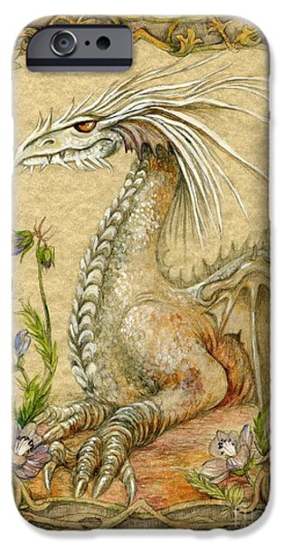 Mixed Media iPhone Cases - Dragon iPhone Case by Morgan Fitzsimons