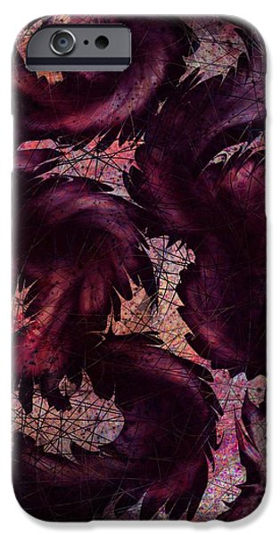 Serpent iPhone Cases - Dragon iPhone Case by Rachel Christine Nowicki