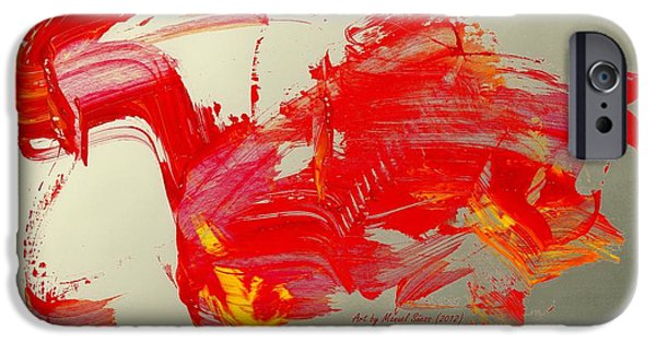 Swiss Mixed Media iPhone Cases - Dragon Rider iPhone Case by Manuel Sueess