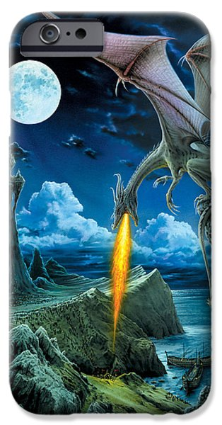 Fantasy Photographs iPhone Cases - Dragon Spit iPhone Case by The Dragon Chronicles - Robin Ko