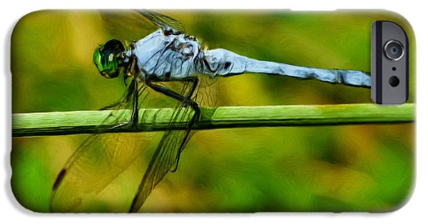 Painter Photo Digital Art iPhone Cases - Dragonfly iPhone Case by Jack Zulli