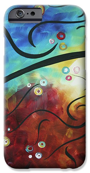Drama iPhone Cases - Drama Unleashed 2 iPhone Case by Megan Duncanson
