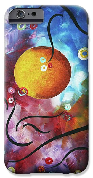 Drama iPhone Cases - Drama Unleashed 3 iPhone Case by Megan Duncanson