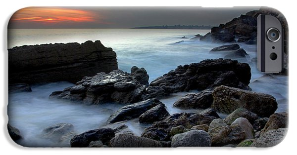 Abstract Seascape Photographs iPhone Cases - Dramatic Coastline iPhone Case by Carlos Caetano