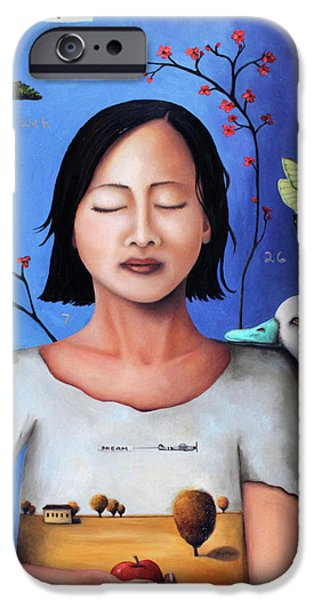 Dream Within A Dream 3 iPhone Case by Leah Saulnier The Painting Maniac