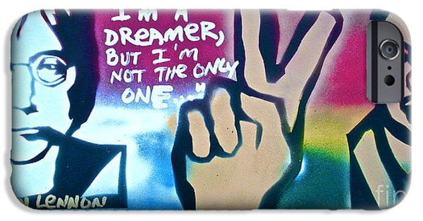 Conscious Paintings iPhone Cases - Dreamers iPhone Case by Tony B Conscious