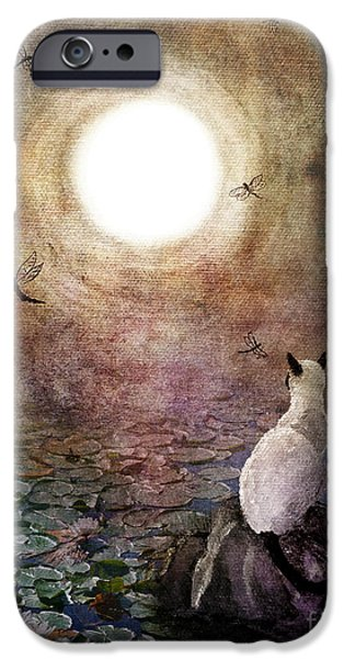 Antiques iPhone Cases - Dreaming of a Koi Pond iPhone Case by Laura Iverson