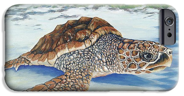 Nature Center Paintings iPhone Cases - Dreaming of Islands iPhone Case by Danielle  Perry