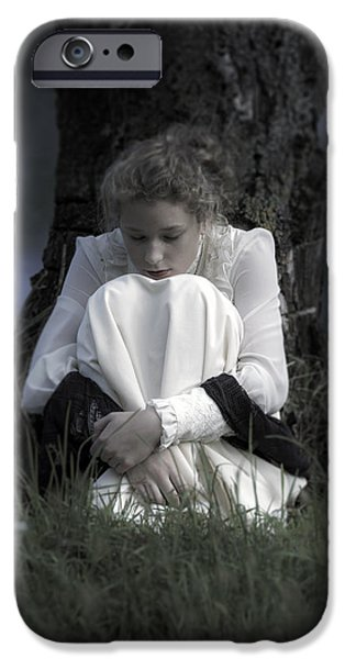Shawl iPhone Cases - Dreaming Under A Tree iPhone Case by Joana Kruse