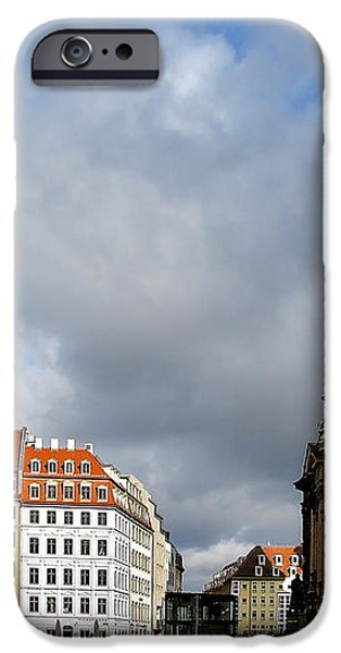 Dresden Church of Our Lady and New Market iPhone Case by Christine Till
