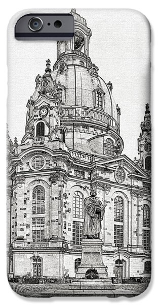 Dresden's Church of our Lady - Reminder of peace iPhone Case by Christine Till