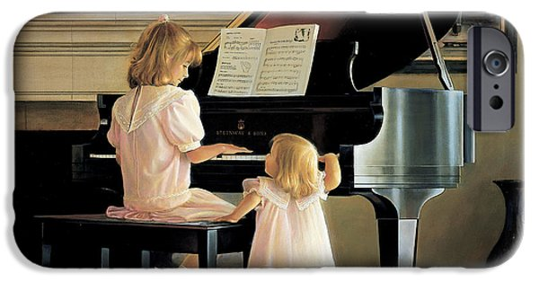 Grand Piano Paintings iPhone Cases - Dress Rehearsal iPhone Case by Greg Olsen