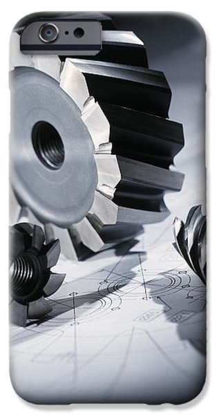 Drill & Cutting Bits iPhone Case by Tek Image