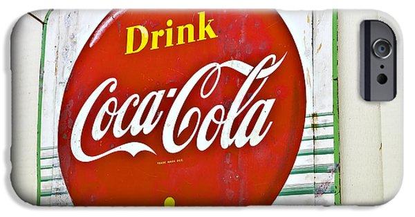 Susan Leggett iPhone Cases - Drink Coca Cola iPhone Case by Susan Leggett