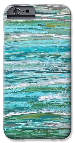 Abstract Seascape iPhone Cases - Dripping Seas iPhone Case by Elizabeth Langreiter