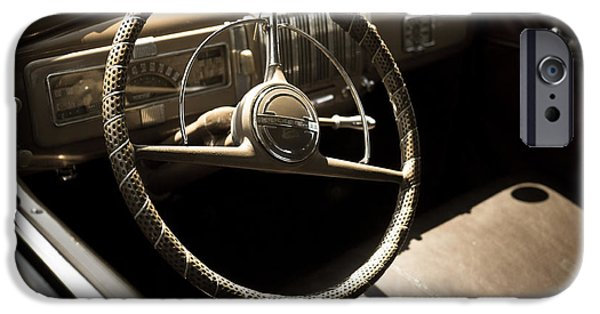 Steering iPhone Cases - Drivers Seat iPhone Case by Edward Fielding