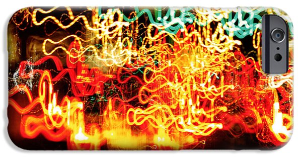 Action Lines Digital Art iPhone Cases - Driving Home for the Holidays iPhone Case by Carol F Austin