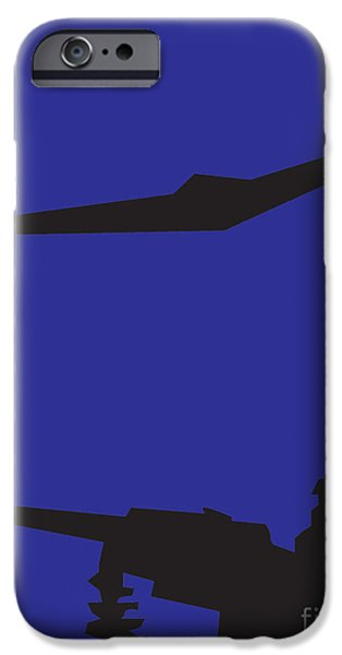 War Pastels iPhone Cases - Drone iPhone Case by Derrick Hayes