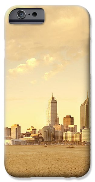 Drought-Affected City iPhone Case by Dave & Les Jacobs