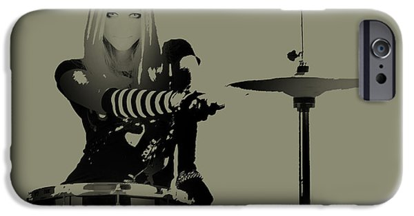Drummer iPhone Cases - Drummer iPhone Case by Naxart Studio