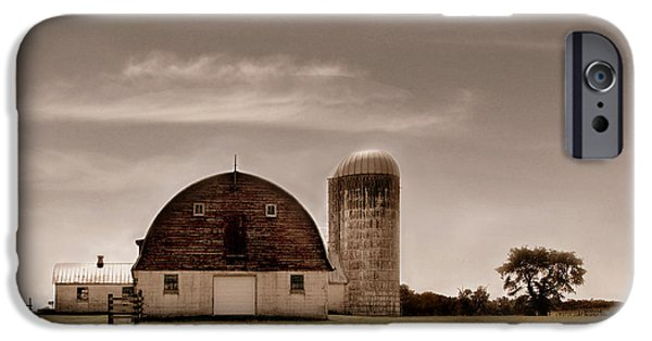 Old Barns iPhone Cases - Dry Earth Crumbles Between My Fingers and I Look to the Sky for Rain iPhone Case by Dana DiPasquale