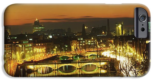 Built Structure iPhone Cases - Dublin,co Dublin,irelandview Of The iPhone Case by The Irish Image Collection