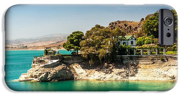 White House iPhone Cases - Duke House in El Chorro Lake District. Spain iPhone Case by Jenny Rainbow