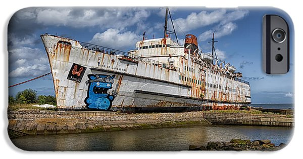 Coastline Digital Art iPhone Cases - Duke of Lancaster  iPhone Case by Adrian Evans