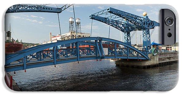 Irvin iPhone Cases - Duluth Draw Bridge 1 C iPhone Case by John Brueske
