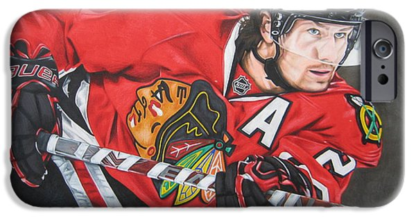 Eyebrow iPhone Cases - Duncan Keith iPhone Case by Brian Schuster