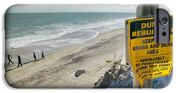 Ignored iPhone Cases - Dunes Rebuilding Keep off Grass and Dune Area Cape Cod iPhone Case by Matt Suess