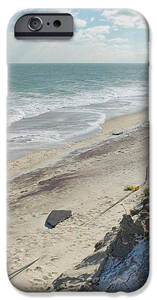 Dunes Rebuilding Keep off Grass and Dune Area Cape Cod iPhone Case by Matt Suess