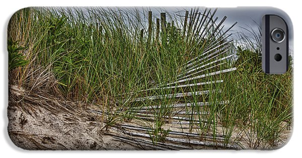 Sand Fences iPhone Cases - Dunes iPhone Case by Rick Berk