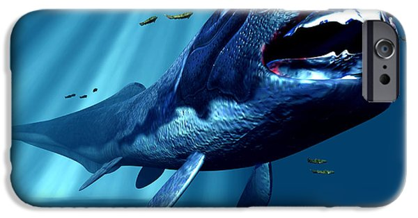 Virtual iPhone Cases - Dunkleosteus Sp. Prehistoric Fish iPhone Case by Christian Darkin