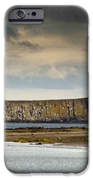 Dunstanburgh Castle On A Hill Under A iPhone Case by John Short