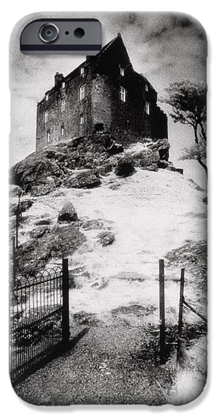 The White House Photographs iPhone Cases - Duntroon Castle iPhone Case by Simon Marsden