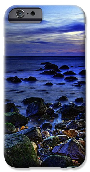 Clouds Photographs iPhone Cases - Dusk at Montauk Point iPhone Case by Rick Berk