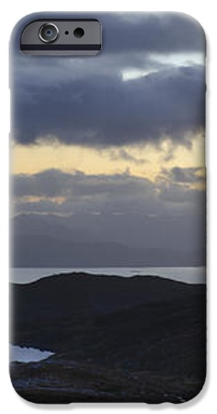 Dusk panorama of Skye iPhone Case by Gary Eason