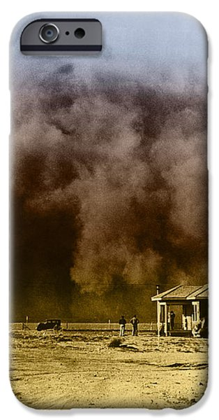 Dust Storm, 1930s iPhone Case by Omikron