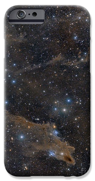 Constellations iPhone Cases - Dusty Nebulae In Cepheus Constellation iPhone Case by John Davis