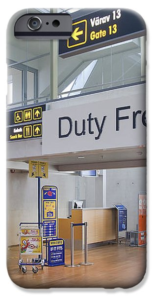 Duty Free Shop at an Airport iPhone Case by Jaak Nilson